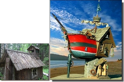 The small troll's house and the pirate ship