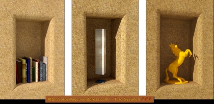 Nooks and niches are possibilities to remember, when you build straw bale houses