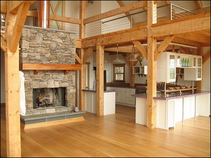 Post and Beam Barn Kitchen - Source: Wikipedia